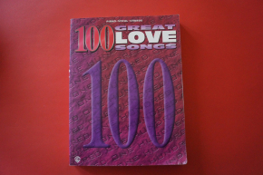 100 Great Love Songs Songbook Notenbuch Piano Vocal Guitar PVG
