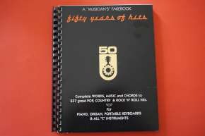 A Musicians Fake Book Fifty Years of Hits Songbook Notenbuch Piano Vocal