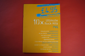 10 x Ultimate Rock Hits Songbook Notenbuch Piano Vocal Guitar PVG