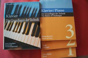 Klavier Die Grundlagen der Technik (3 Bände in Box) Klavierbücher