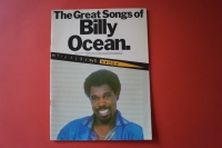 Billy Ocean - The great Songs of Songbook Notenbuch Piano Vocal Guitar PVG