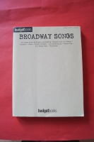 Budget Books: Broadway Songs Songbook Notenbuch Piano Vocal Guitar PVG