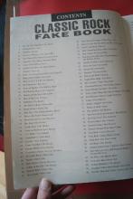 Classic Rock Fakebook Songbook Notenbuch C-Instruments