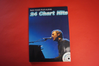 24 Chart Hits (mit 3 CDs, Play-Along) Songbook Notenbuch Easy Piano Vocal