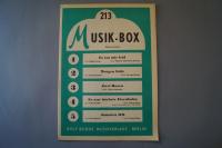 Musik-Box Heft 213 Notenheft