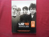 U2 - 18 Singles Songbook Notenbuch Vocal Guitar