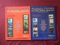 Vladimir Cosma - Les Plus belles Chansons Vol. 1 & 2 Songbooks Notenbücher Piano Vocal Guitar PVG